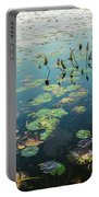 Lilly Pad In Pond  Portable Battery Charger
