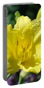 Lily Flower Art Print Canvas Yellow Lilies Baslee Troutman Portable Battery Charger