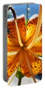 Lily Flower Artwork Orange Lilies 3 Giclee Art Prints Baslee Troutman Portable Battery Charger