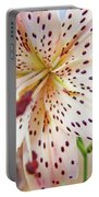 Lily Flower White Lilies Art Prints Baslee Troutman Portable Battery Charger