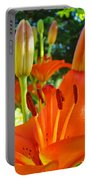Lily Flowers Garden Art Prints Orange Lilies Floral Baslee Troutman Portable Battery Charger