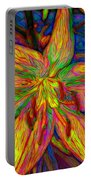 Lily In Abstract Portable Battery Charger