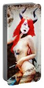 Lily Lovecraft By Mary Bassett Portable Battery Charger