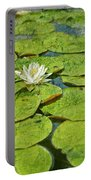 Lily Pad Flowers Portable Battery Charger