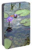 Lily Pads And Koi 1 Portable Battery Charger