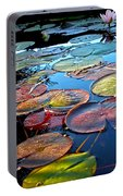 Lily Pads At Sunset Portable Battery Charger