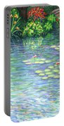 Lily Pads Triptych Panel Three Of Three Portable Battery Charger