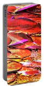 Crimson Lilypads Floating.. Portable Battery Charger
