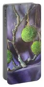 Lime And Violet In Harmony Portable Battery Charger