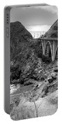 Lime Creek Bridge Highway 1 Big Sur Ca B And W Portable Battery Charger