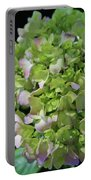 Lime-green Hydrangea Portable Battery Charger
