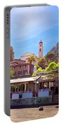 Limone Sul Garda Square And Church View Portable Battery Charger