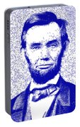 Lincoln Abstract Blue Portable Battery Charger