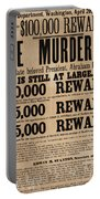 Lincoln Assassination Reward Poster Portable Battery Charger