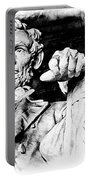 Lincoln Carved Portable Battery Charger