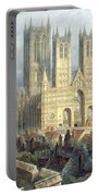 Lincoln Cathedral From The North West Portable Battery Charger by Frederick Mackenzie