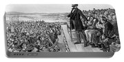 Lincoln Delivering The Gettysburg Address Portable Battery Charger