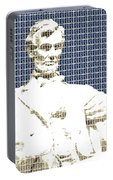 Lincoln Memorial - Dark Blue Portable Battery Charger