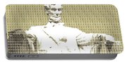 Lincoln Memorial - Gold Portable Battery Charger