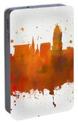 Lincoln Nebraska Colorful Skyline Portable Battery Charger