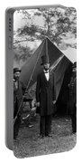 Lincoln With Allan Pinkerton - Battle Of Antietam - 1862 Portable Battery Charger