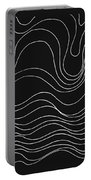 Lines 1-2-3 White On Black Portable Battery Charger