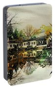 Lingering Garden Reflection Portable Battery Charger