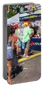 Lining Up For Cajun Food Portable Battery Charger