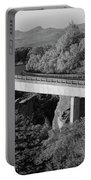 Linn Cove Viaduct Black And White Portable Battery Charger