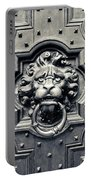 Lion Head Door Knocker Portable Battery Charger by Adam Romanowicz