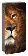 Lion Head Oil Painting Portable Battery Charger