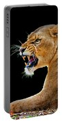 Lion On Black Portable Battery Charger