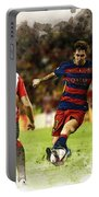 Lionel Messi Challenges The Athletic Bilbao Defense Portable Battery Charger