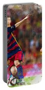 Lionel Messi  Fights For The Ball Portable Battery Charger