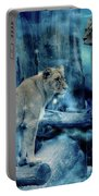 Lions Of The Mist Portable Battery Charger