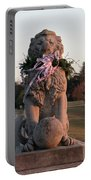 Lions Statue With Ribbon Portable Battery Charger