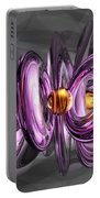 Liquid Amethyst Abstract Portable Battery Charger