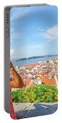 Lisbon Castle Woman Portable Battery Charger