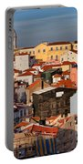Lisbon Cityscape In Portugal At Sunset Portable Battery Charger