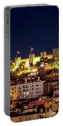 Lisbon Night Background Portable Battery Charger