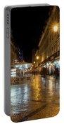 Lisbon Portugal Night Magic - Nighttime Shopping In Baixa Pombalina Portable Battery Charger