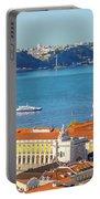 Lisbon Tagus River Skyline Portable Battery Charger