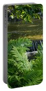 Listen To The Babbling Brook - Green Summer Zen Portable Battery Charger