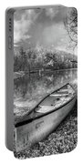 Little Bit Of Heaven Black And White Panorama Portable Battery Charger