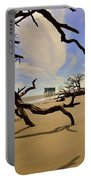 Little Blue And Driftwood Beach Portable Battery Charger by Lisa Wooten