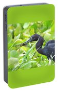 Little Blue Heron Catches A Frog Portable Battery Charger
