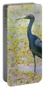 Little Blue Heron In Weeds Portable Battery Charger