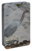 Little Blue Heron Walking Portable Battery Charger