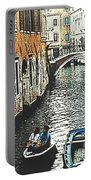 Little Boat In Venice Portable Battery Charger