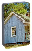 Little Cabin In The Country Pine Barrens Of New Jersey Portable Battery Charger